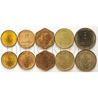 Мьянма (Бирма) 5 монет 1975-1986 годов. FAO