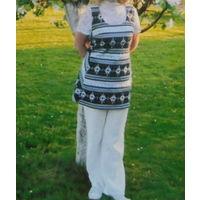 В подарок к купленной одежде К 8 марта качественная одежда .Сарафан Туника Платье  ( Vint)  + майка Р-р 48