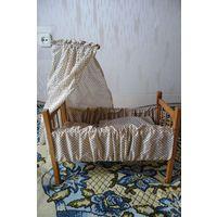 Деревянная кроватка для кукол (ГДР)