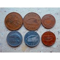 Набор 3 монеты: 10 пенсов 2 пенса 1 пенни Ирландия