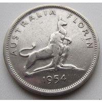 Австралия, флорин, 1954, серебро