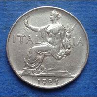 Италия 1 лира 1924