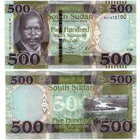 Южный Судан 500 фунтов образца 2018 года UNC p16