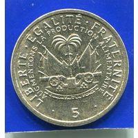 Гаити 5 сантимов 1975