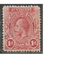 Сент-Винсент. Король Георг V. 1913г. Mi#86.