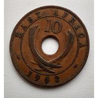 Британская Восточная Африка 10 центов, 1942 3-1-3