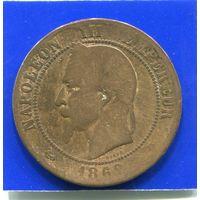 Франция 10 сантимов 1862