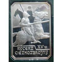 20. Польша 10 злотых 2007 год, рыцарь, серебро