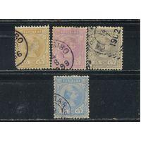 NL Колонии Суринам 1892 Вильгельма Стандарт #29-31,33