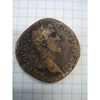 Сестерций 140-143гг, Антоний Пий, 26,9гр