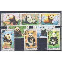 [221] Монголия 1990.Фауна.Панды.  Гашеная серия.