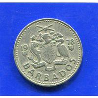 Барбадос 25 центов 1978