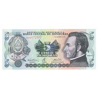 Гондурас 5 лемпира 2000 года. Состояние UNC! Более редкий год!