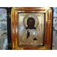 Икона Господь Вседержитель, серебро 84, СГ (Семён Галкин).