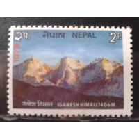 Непал 1975 Горы Гималаи**