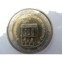 Сан-Марино 2 евро 2012 г. UNC!