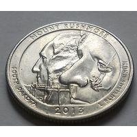 25 центов, квотер США, нац. парк Маунт Рашмор (штат Южная Дакота), P D