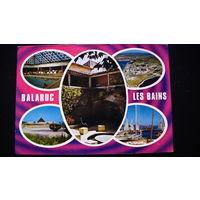 """Почтовая карточка c маркой . подписанная.  """"BALARUC LES BAINS"""".  распродажа"""