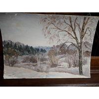 Картина, пейзаж, холст, картон