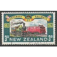 Новая Зеландия. 100 лет железной дороге. 1963г. Mi#428.