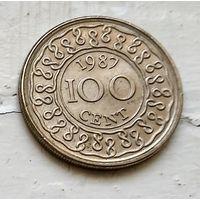 Суринам 100 центов, 1987 3-2-28
