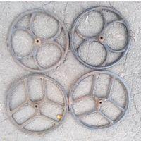 Колесо чугун литая решетка декоративная