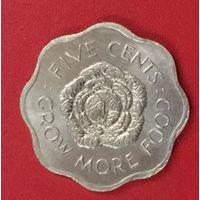 Сейшелы, Сейшельские острова 5 центов 1972