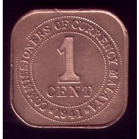 1 цент 1941 год Малайя