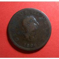 Великобритания 1/2 пенни (пол пенни) , 1806. Георг III.