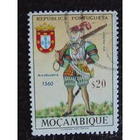 Португальская колония Мозамбик. Воин. 1966г.