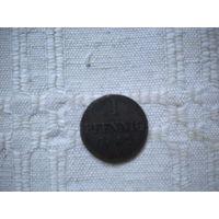 1  пфенниг   1842 г. Германия