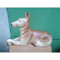Фарфоровая статуэтка Собака, San Clement Franc, огромная