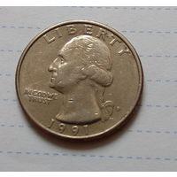 25  центов КВОТЕР  1991  США