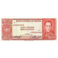 Боливия 100 песо 1962 UNC