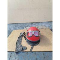 Шлем мотоциклетный с очками Ссср
