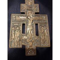 Крест с предстоящими, РИ 19 век. латунь. 17х11см