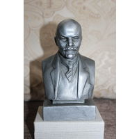 Бюст Ленина, времён СССР, силумин. 1962 год, автор Нерода Г. В., высота 16 см., хорошее состояние.