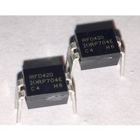 IRFD420 ((цена за 2 шт)) Транзистор, N-канал 500В 0.46А
