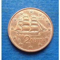 Греция 2 евроцента 2014