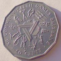 Австралия, 50 центов 1982 года, KM#74, XII Игры стран членов Содружества