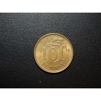 Финляндия 10 пенни 1978