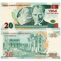 Турция. 20 новых лир (образца 2005 года, P219, UNC)