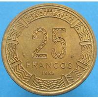 Экват. Гвинея 25 франков 1985 РЕДКАЯ (2-261)