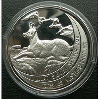 Андорра. 10 динеров 1992. Горный козёл. Серебро. Пруф. 098