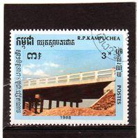 Камбоджа. Ми-995. Мост. 1989.