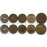 Испания 5 монет 1944-1975 годов (VF-XF)