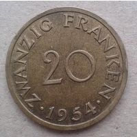 Саар 20 франков