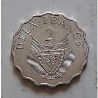 2 франка 1970 г. Руанда