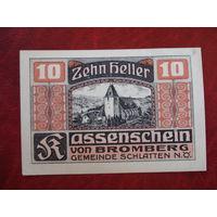 10 геллеров 1920 год Австрия Бромберг