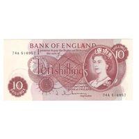 Великобритания 10 шиллингов образца 1960 года. Состояние UNC-! (2)